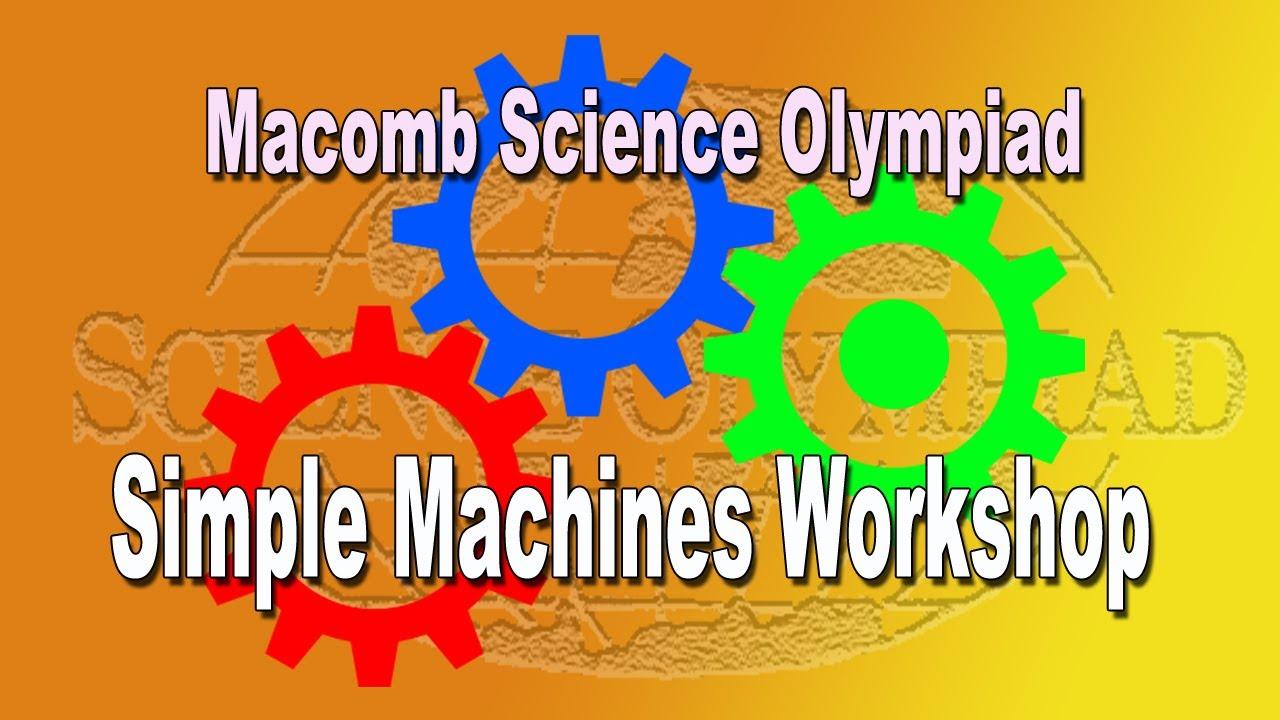 simple machine science olympiad