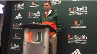 Al Golden speaks after Miami's 45-0 opening night win 9-5-15