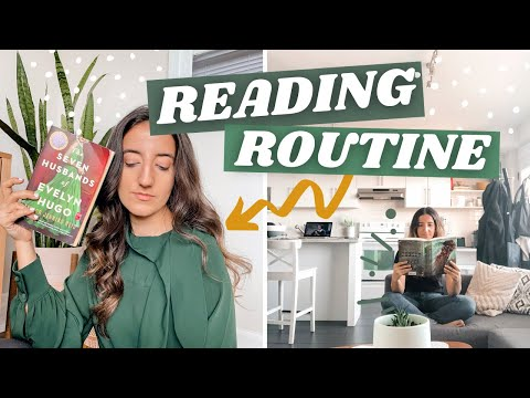 MY READING ROUTINE | how to read more books, reading journal & annotating