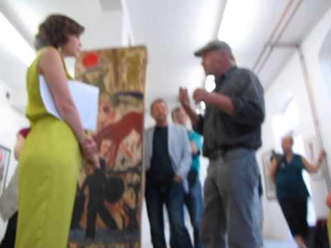 Hrdlicka Andenken, Hans Sailer, Künstlergespräch   Finissge 11.7.2014 Kunstgalerie Flierl