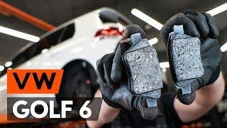 VW GOLF Takajarrupalat ja etujarrupalat asentaa : videokäsikirjat