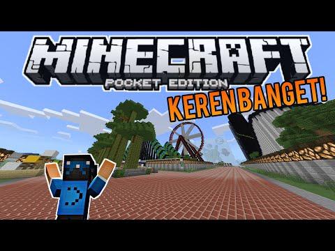 TAMAN REKREASI LEGENDARIS DI MCPE!!! - Minecraft Pe Indonesia - MINEPARK MCPE MAP