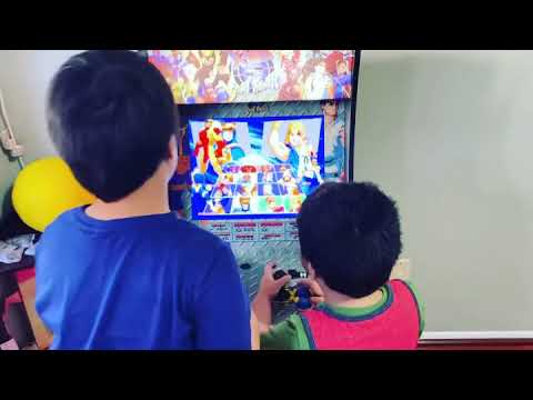 Awesome Arcade1up X-men vs Street Fighter easy to assemble this is our very first Arcade1up machine. from Conner cool Toys