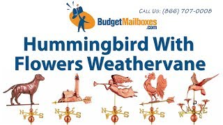 Budgetmailboxes.com | Good Directions 913p Hummingbird With Flowers Weathervane - Polished Copper