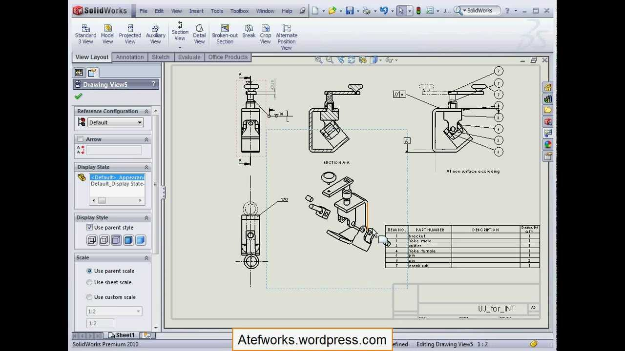 10.2.7 Solidworks Drawing Annotations Section Scope
