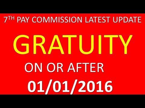 GRATUITY ON OR AFTER - 01/01/2016