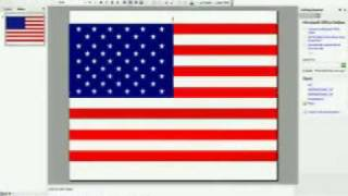 Draw flag of the United States on Microsoft 2003 Power Point