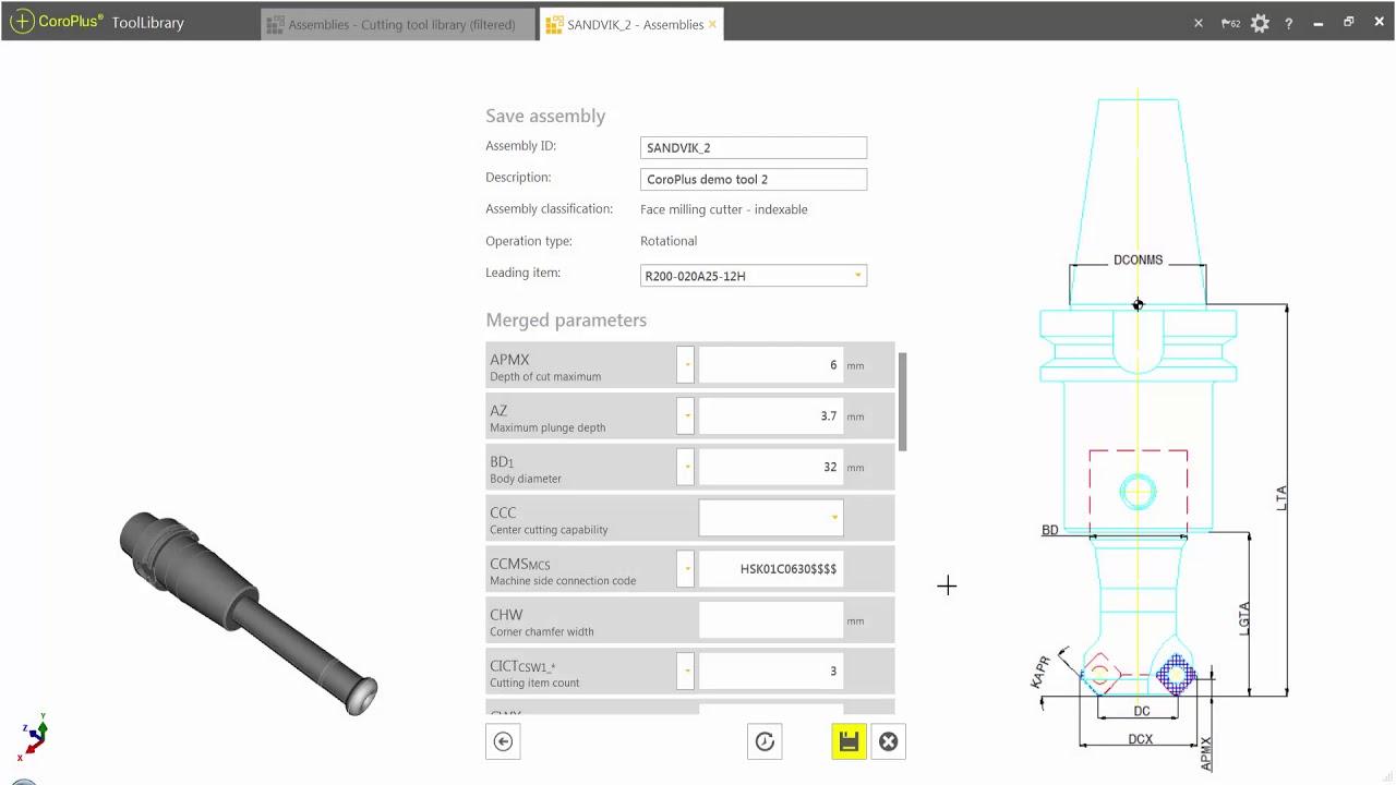 Sandvik CoroPlus ToolLibrary to VERICUT Interface