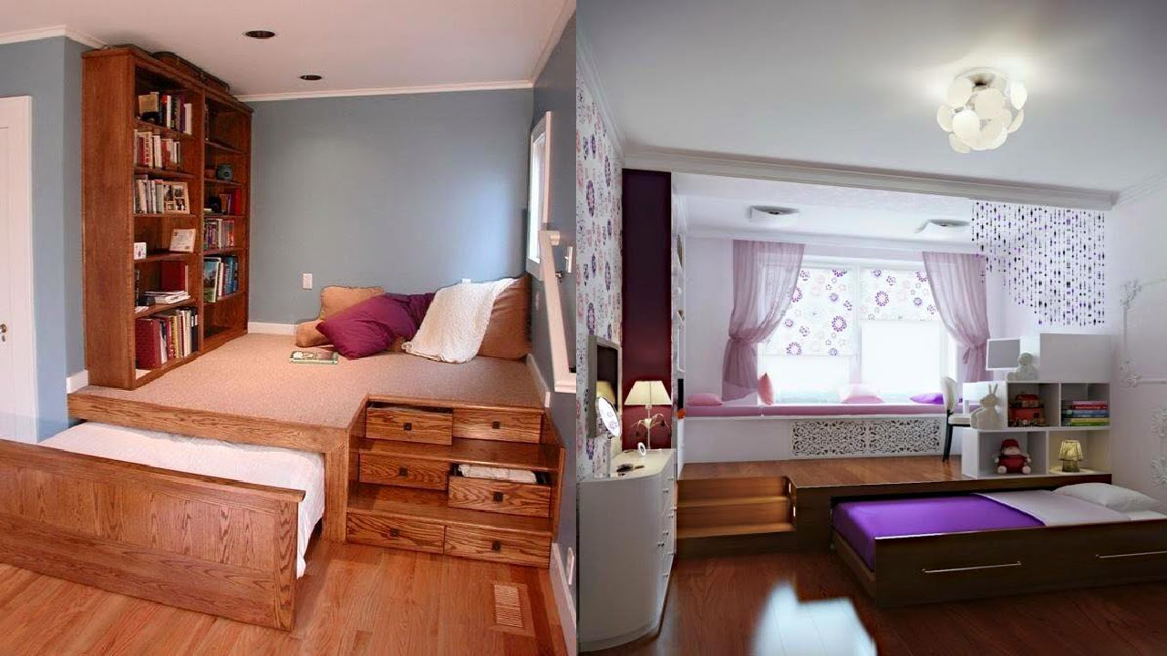 Space Saving Bedroom Ideas - YouTube on Bedroom Ideas For Small Spaces  id=18194