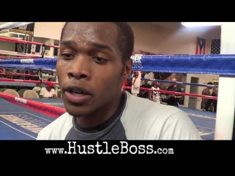 Anthony Lights Out Smith swings through the Mayweather Boxing Club Training footage Interview hd720