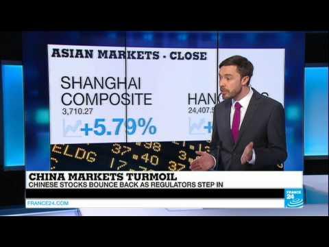 CHINA MARKETS TURMOIL - Chinese stock bounce back as regulators step in