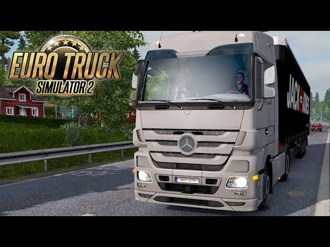 Euro Truck Simulator 2 #8 - MENS CLOTHING TO FINLAND | Sundsvall, Sweden to Tornio, Finland