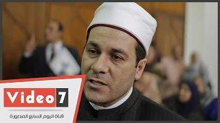 بالفيديو.. مظهر شاهين فى خطبة الجمعة: الإسلام أقوى وأعلى من أن يهزمه الإرهابيون