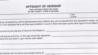 Affidavit of Heirship vs. Probate : Legal Advice