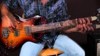 Easy Country Bassline Lesson - Bass Guitar Lessons - Johnny Cash Inspired