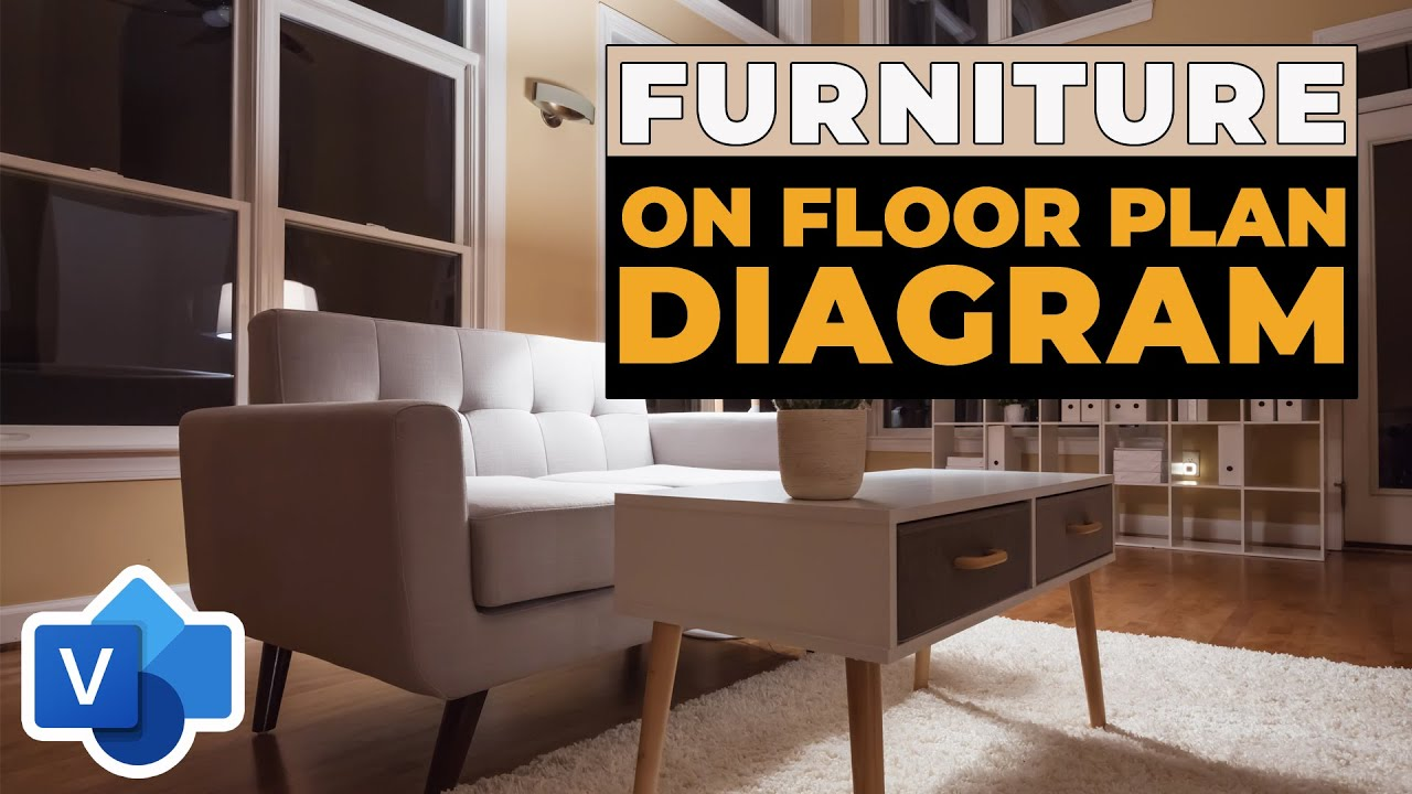 How to Add Furniture to Visio Floor Plan Diagram