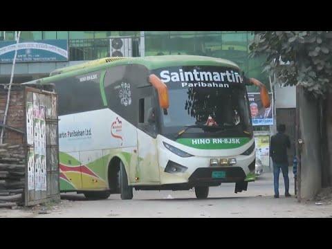 Saintmartin Paribahan HINO RN parking at Kamalapur.