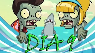 Plants vs Zombies 2, [Playa de la Gran Ola, dia 9] - [Big Wave Beach, day 9]