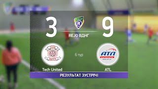 Обзор матча Tech United 3 9 ATL Турнир по мини футболу в городе Киев