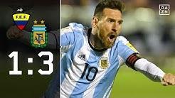 Messi schießt Argentinien ins Glück! Ecuador - Argentinien 1:3 | Highlights | WM-Quali | DAZN