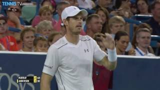 Murray Hits Hot Shots To Break Back In Cincinnati 2016