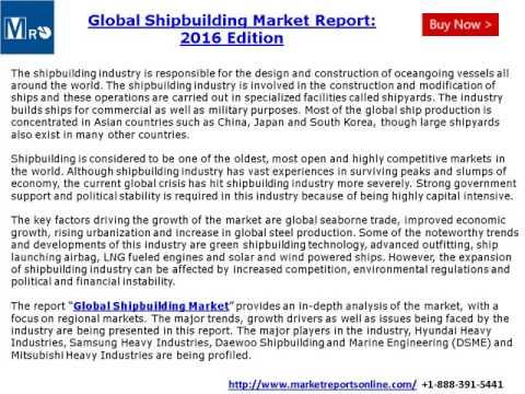 Global Shipbuilding Market Report 2016 Edition - MarketReportsOnline