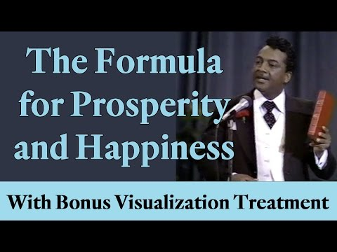 The Formula for Prosperity and Happiness (with bonus Visualization Treatment!)