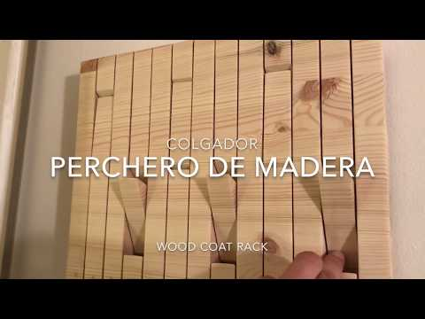 DIY Cómo Hacer Perchero O Colgador De Pared En Madera De Pino / How To Make A  Wall Wood Coat Rack