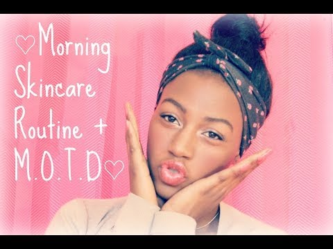 ♡Morning Skincare Routine (2014) + M.O.T.D♡