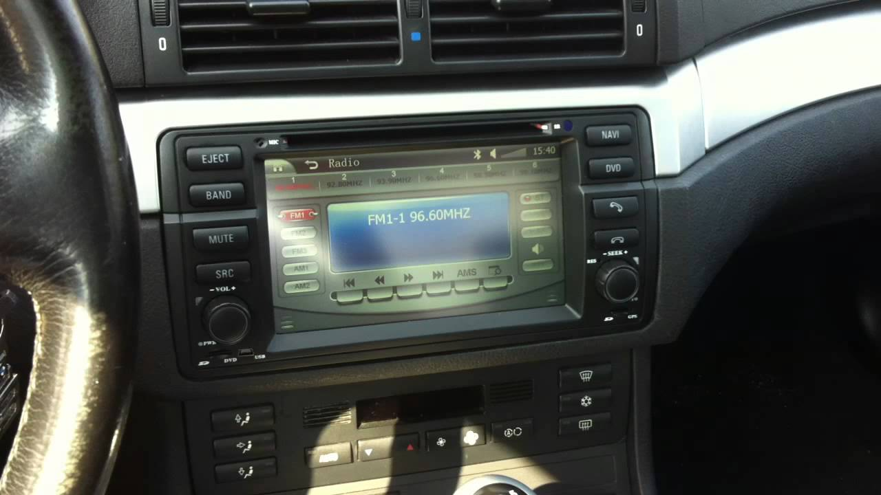 Autoradio Dvd Gps Bmw E46 Youtube