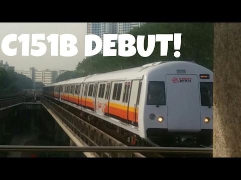 (Debut!) New SMRT Kawasaki Heavy Industries & CSR Qingdao C151B Set 601/602 on revenue service!