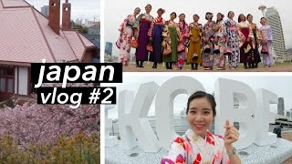 Japan Vlog #2 | Walking Around Kobe in a Kimono #👘