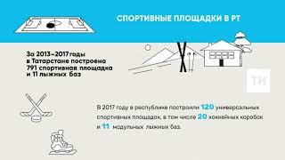ВТатарстане за2018 год построили 96универсальных спортивных площадок