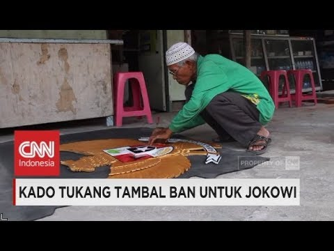 Kado Tukang Tambal Ban untuk Presiden Jokowi Mantu