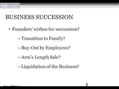 Seminar Presentation: Succession Planning for Family Owned Businesses