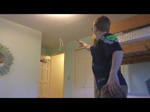 Coat Hanger Flip Trickshots (REUPLOAD) [my second video]