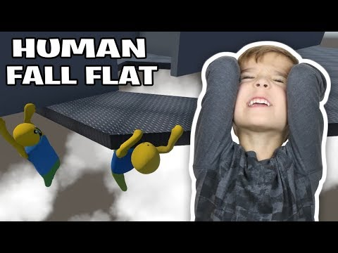 THIS MAP MADE ME RAGE QUIT in HUMAN FALL FLAT MULTIPLAYER DAD VS SON |