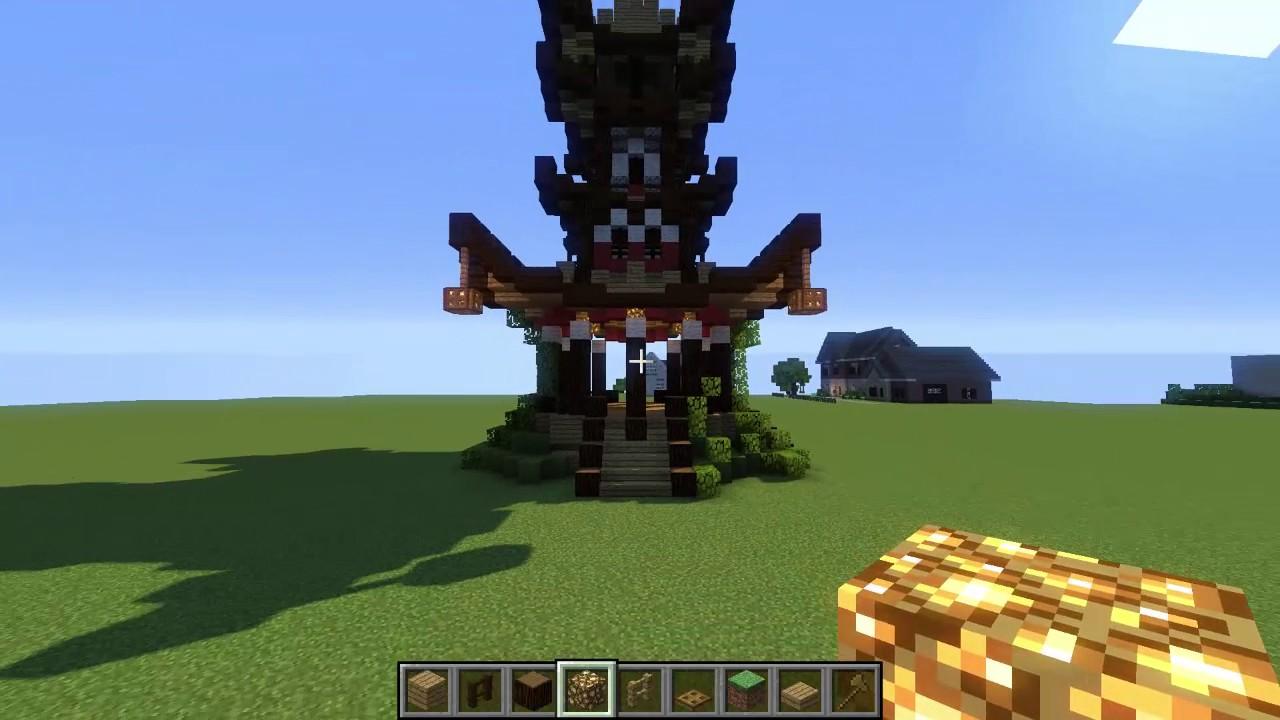 asiatische pagode bauen minecraft tutorial part 4. Black Bedroom Furniture Sets. Home Design Ideas