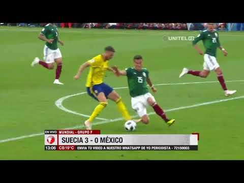 Mundial, Grupo F: Suecia 3 – 0 México