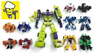Transformer stop motion collection with optimus prime bumblebee Strongarm robots in disguise