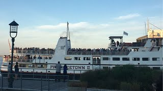 People seen standing shoulder-to-shoulder on Boston party cruise