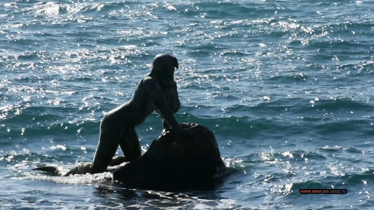 Мисхор Набережная и пляж Русалка 18 Февраля. Ялта, Крым.  Yalta, Mishor beach. Crimea