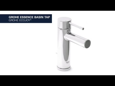 GROHE Essence basin faucet, smooth body, regular spout, GROHE EcoJoy ...