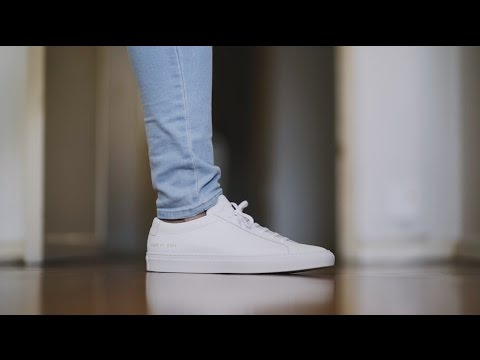 Common Projects Achilles Low White    Unboxing   On Feet - YouTube 52a1efa1c