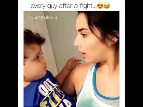 شاهد ولد صغير يقبل امه من فمها ههههه