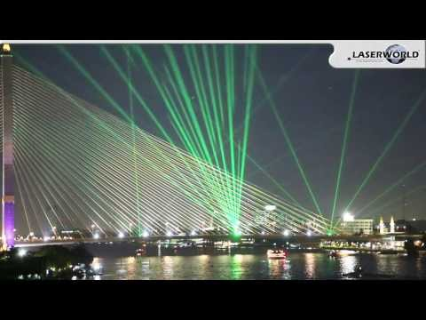 Laser Show Installation on Rama VIII bridge in Bangkok, Thailand 2013 | Laserworld