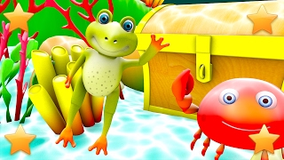 Five Little Speckled Frogs | Kindergarten Nursery Rhymes & Songs for Kids