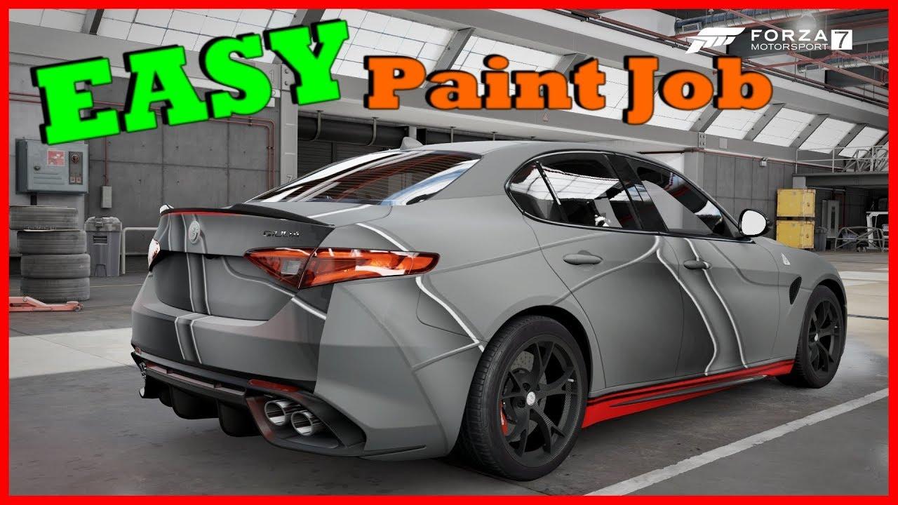 Easy Paint Job In Forza Motorsport 7 Youtube