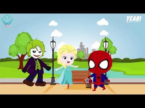 Spiderman & Frozen Elsa Sit Nodding in Homework Funny Story! Funny Superheroes In Real Lif