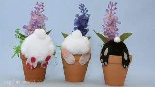 How to Make a Bunny Bottom Decoration | Sophie's World